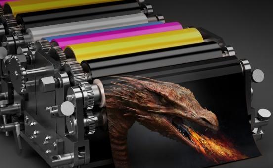 Efectos especiales en sistemas de impresión