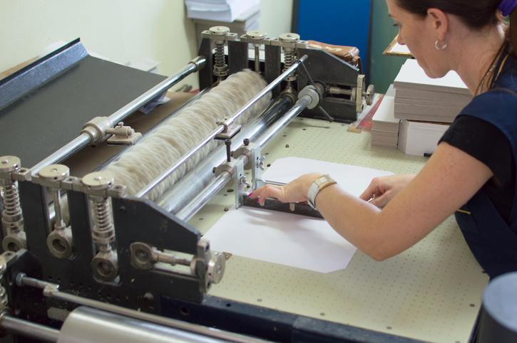 Tipos de texturas en la impresión de documentos